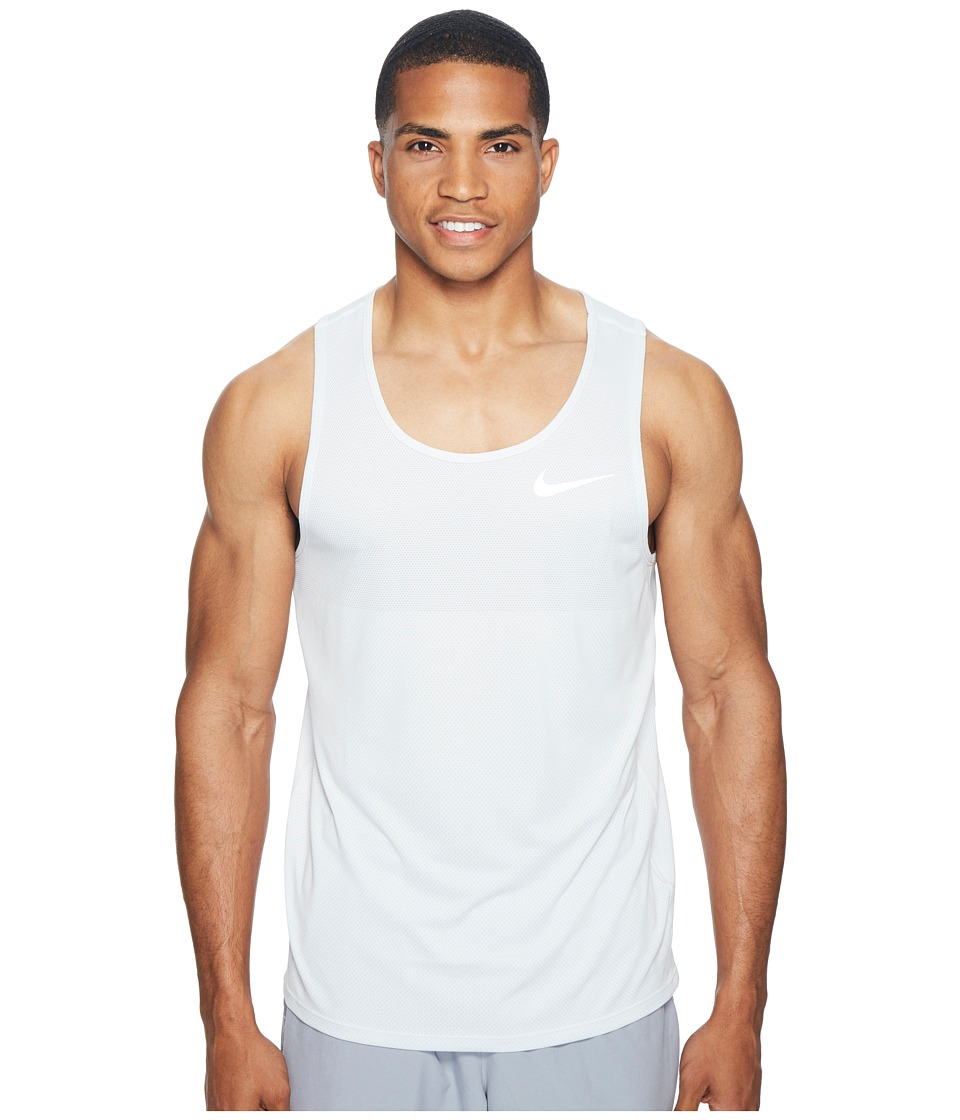Nike - Zonal Cooling Relay Running Tank (White) Men's Sleeveless