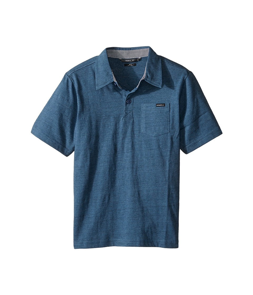 O'Neill Kids - The Bay Polo Short Sleeve Top (Little Kids) (Dusty Blue) Boy's Short Sleeve Pullover