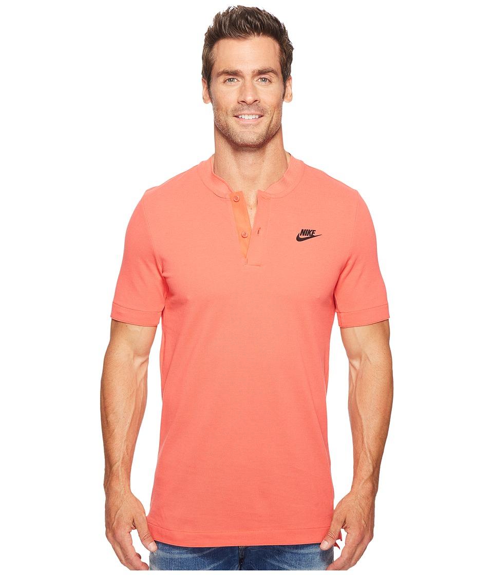 Nike Sportswear Modern Short Sleeve Top (Track Red/Black) Men