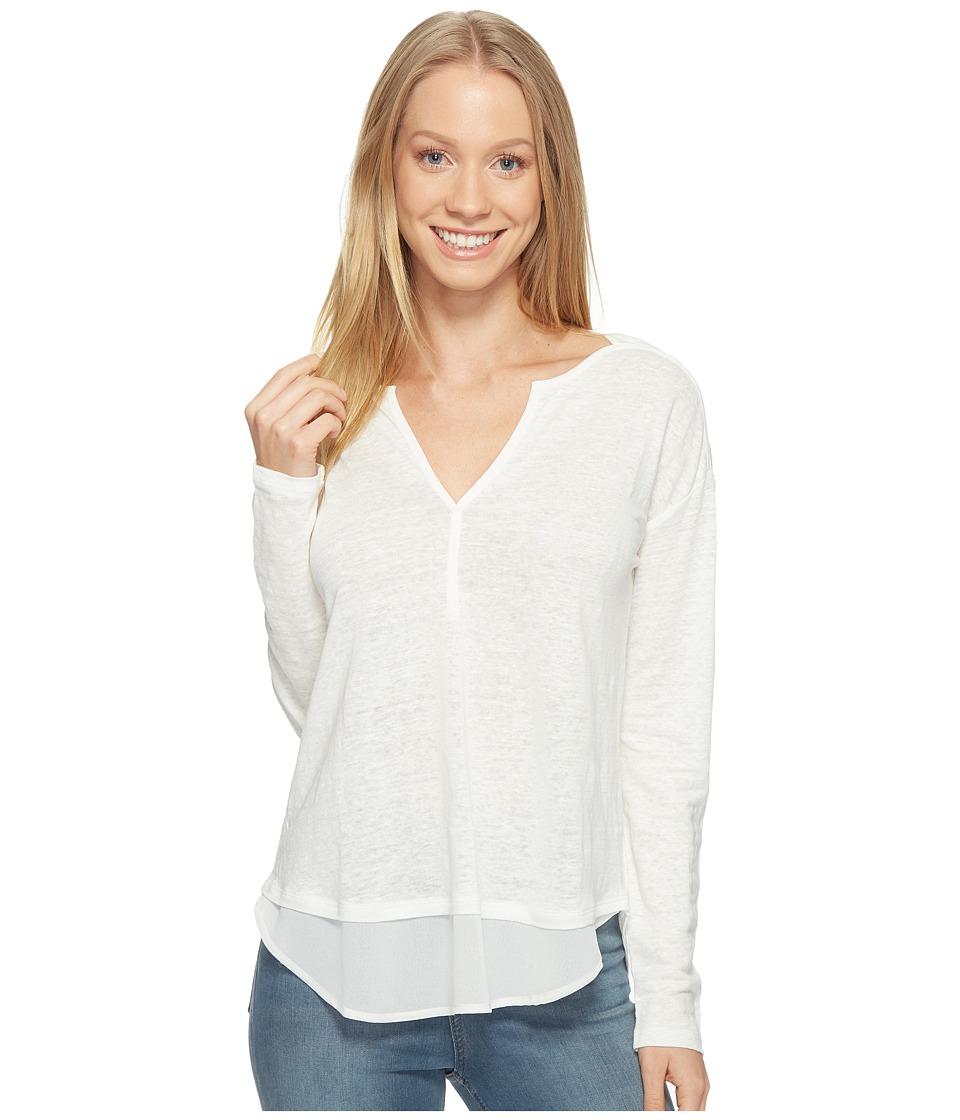 Sanctuary - Faraday Henley Top (Milk) Women's Clothing