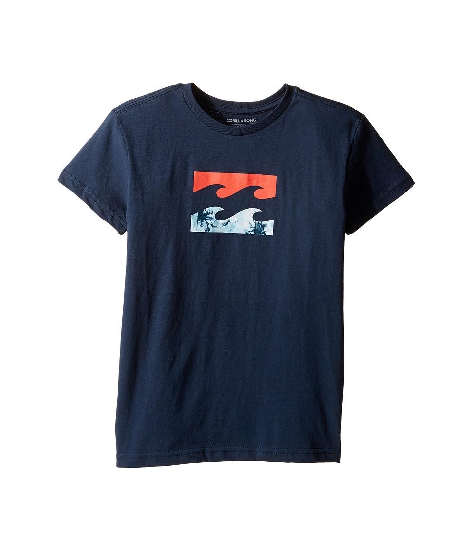 Billabong Kids - Team Wave Shirt (Toddler/Little Kids) (Navy) Boy's Short Sleeve Pullover