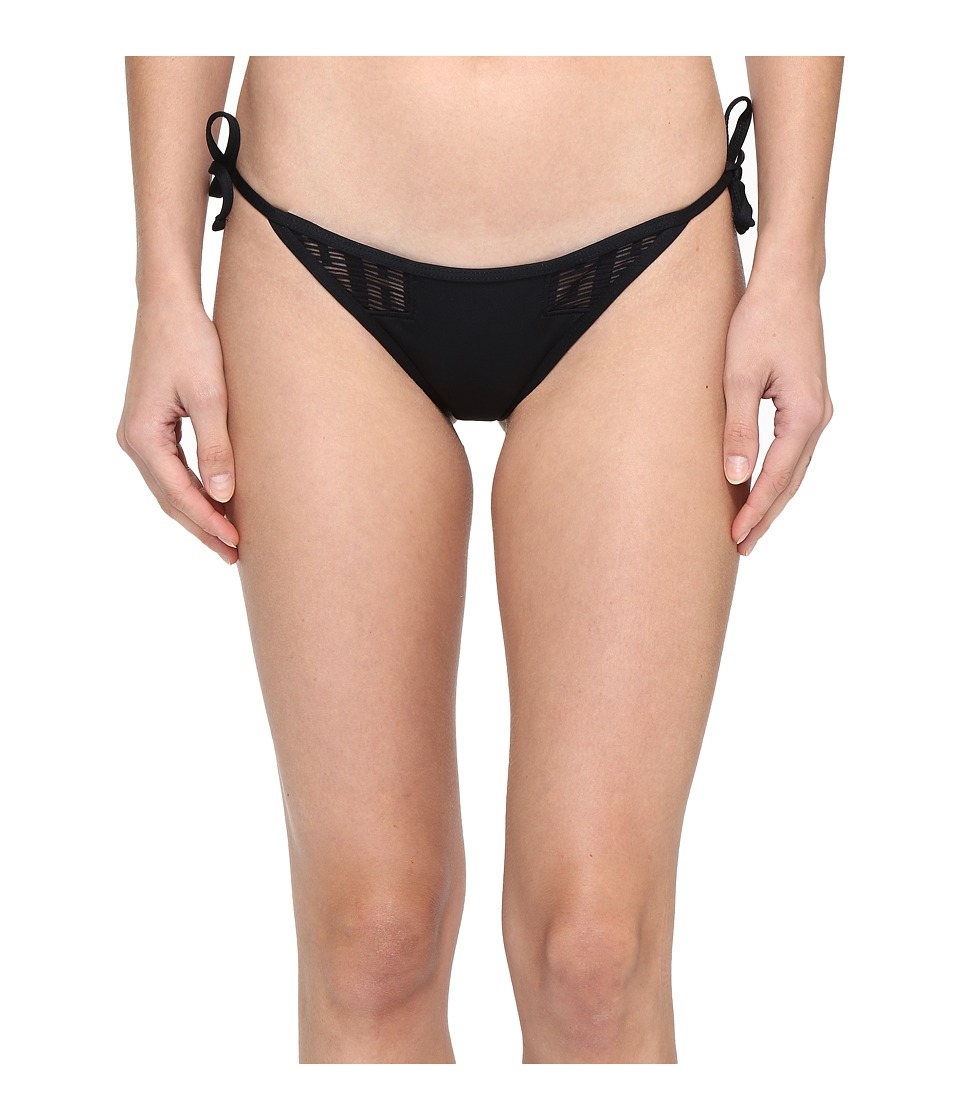 Vitamin A Swimwear - Riley Tie Side Bottom (Symmetry Black Mesh) Women's Swimwear
