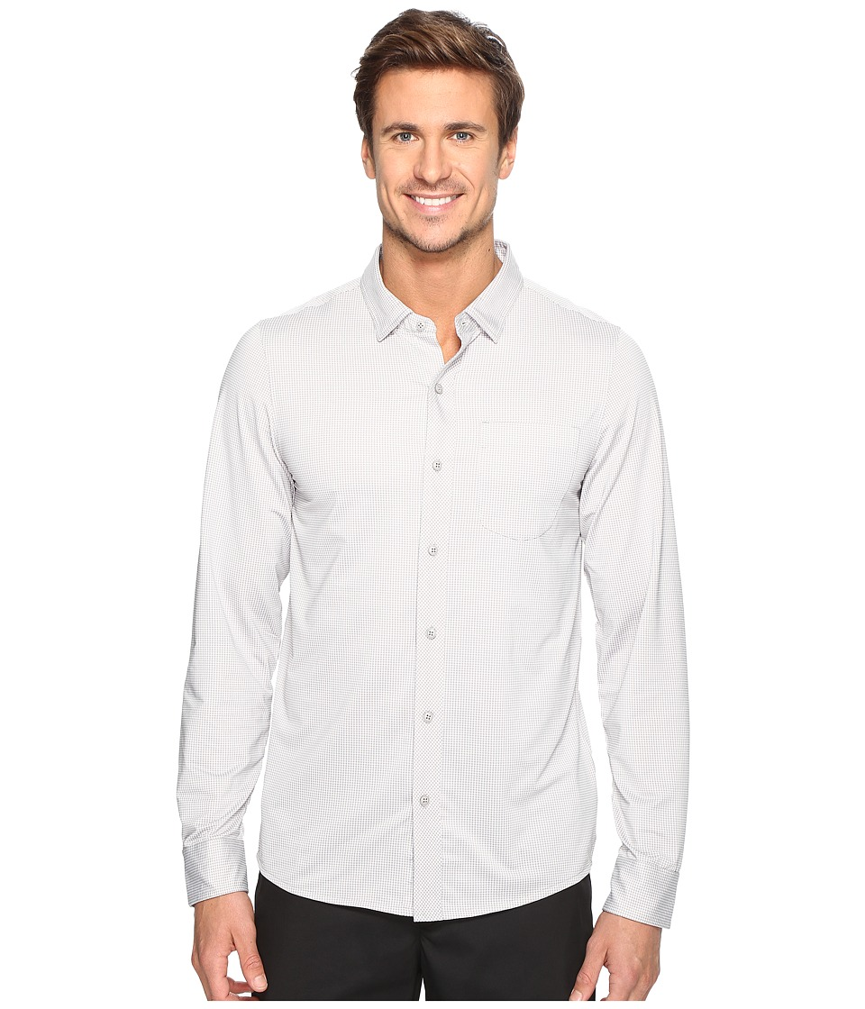 TravisMathew - Ullman Woven (Alloy/White) Men's Clothing