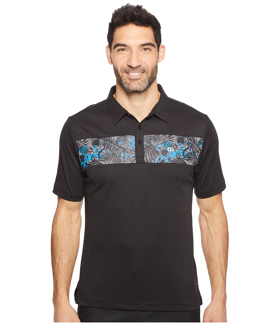 TravisMathew - Quirky Brown Polo (Black) Men's Clothing