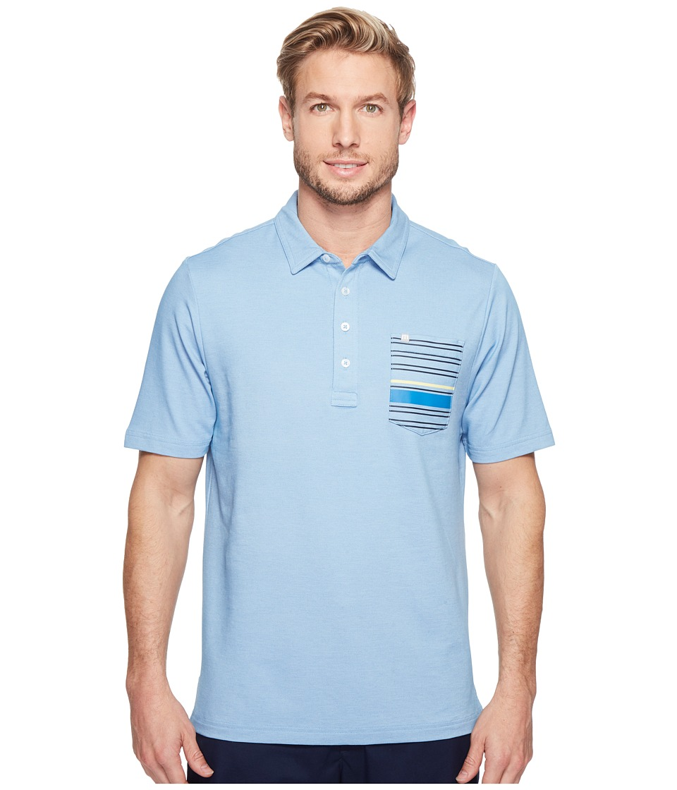 TravisMathew - Maravilla Polo (Vallarta Blue/White) Men's Clothing
