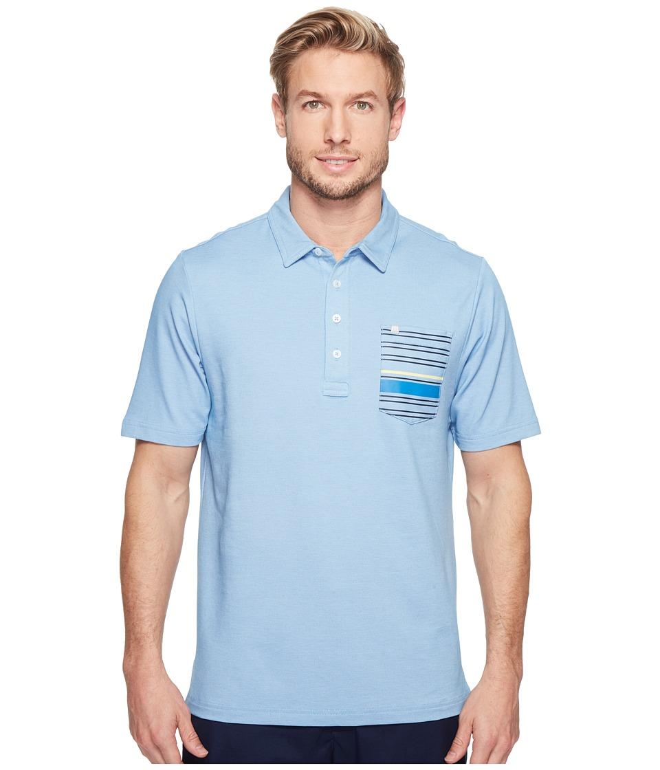 TravisMathew - Maravilla Polo (Vallarta Blue/White) Men's Clothing