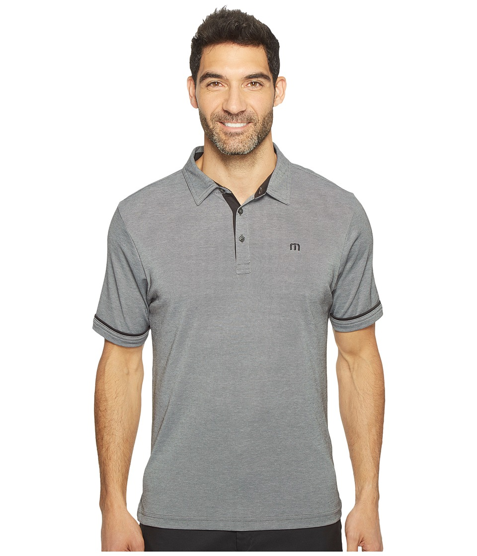 TravisMathew - PDA-Lite Polo (Black/Microchip) Men's Clothing