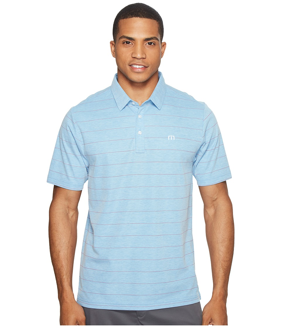 TravisMathew - Pallis Polo (Brilliant Blue/Frost) Men's Clothing