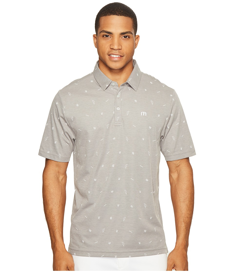 TravisMathew - Mr. Personality Polo (Micro Chip/Castlerock) Men's Clothing