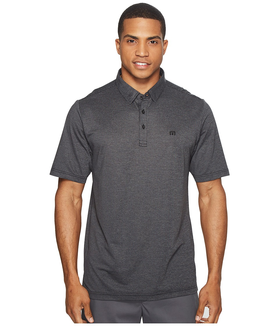TravisMathew - Garber Polo (Heather Black) Men's Clothing