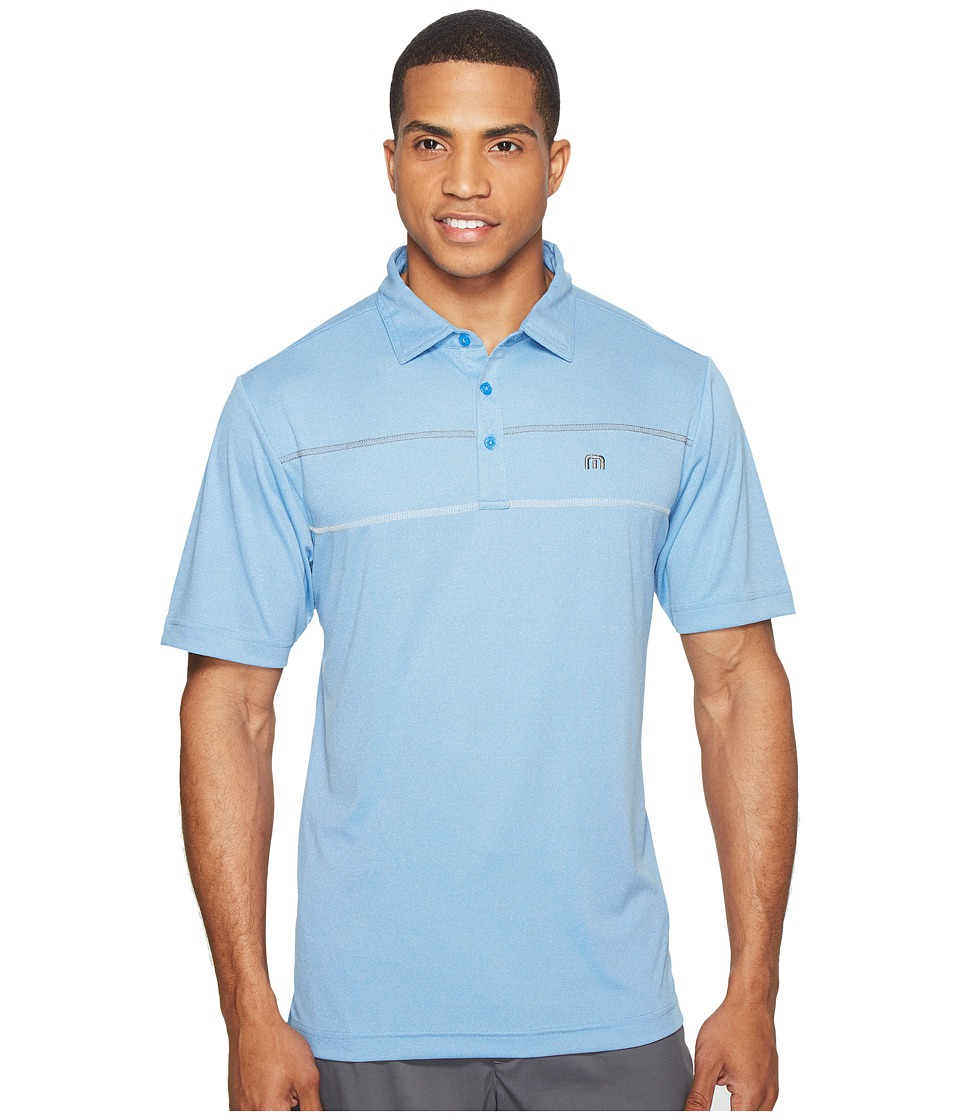 TravisMathew - Drunklespikle Polo (Heather Brilliant Blue) Men's Clothing