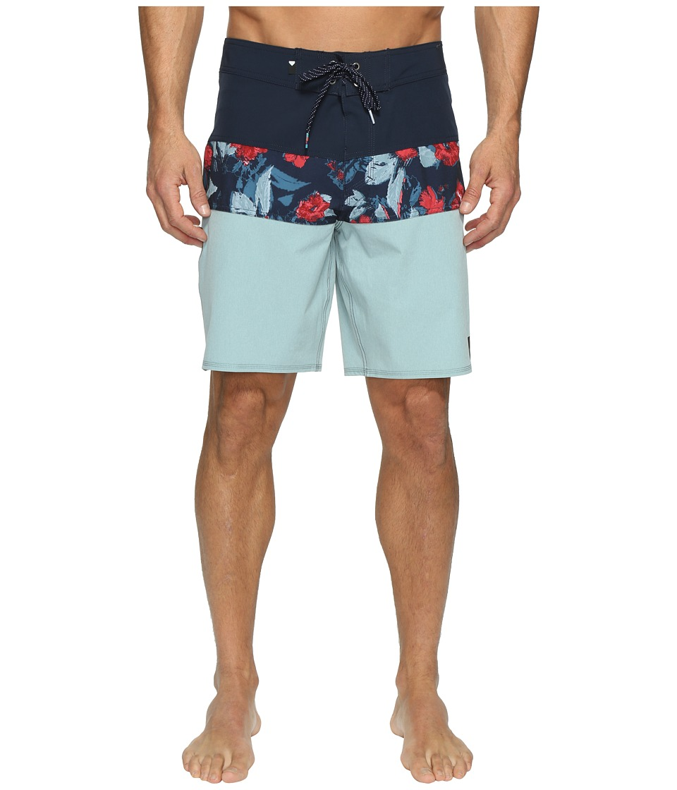 Quiksilver Panel Blocked Vee 19 Boardshorts (Stone Blue) Men