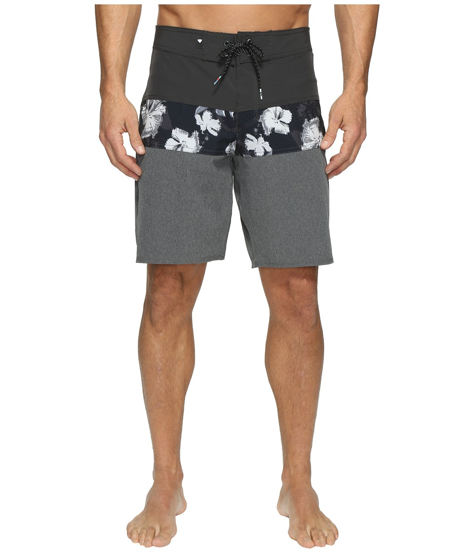 Quiksilver - Panel Blocked Vee 19 Boardshorts (Tarmac) Men's Swimwear