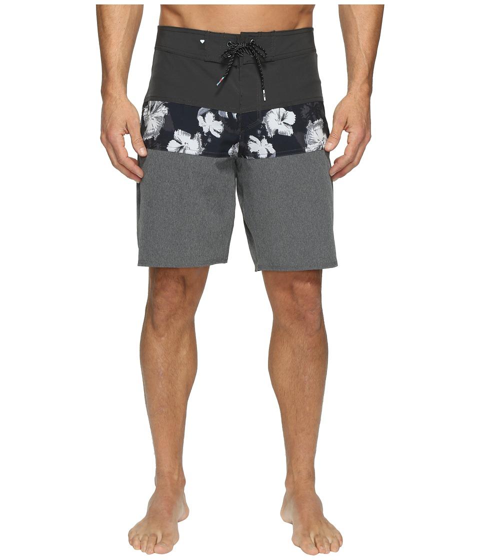 Quiksilver - Panel Blocked Vee 19 Boardshorts (Tarmac) Men's Swimwear