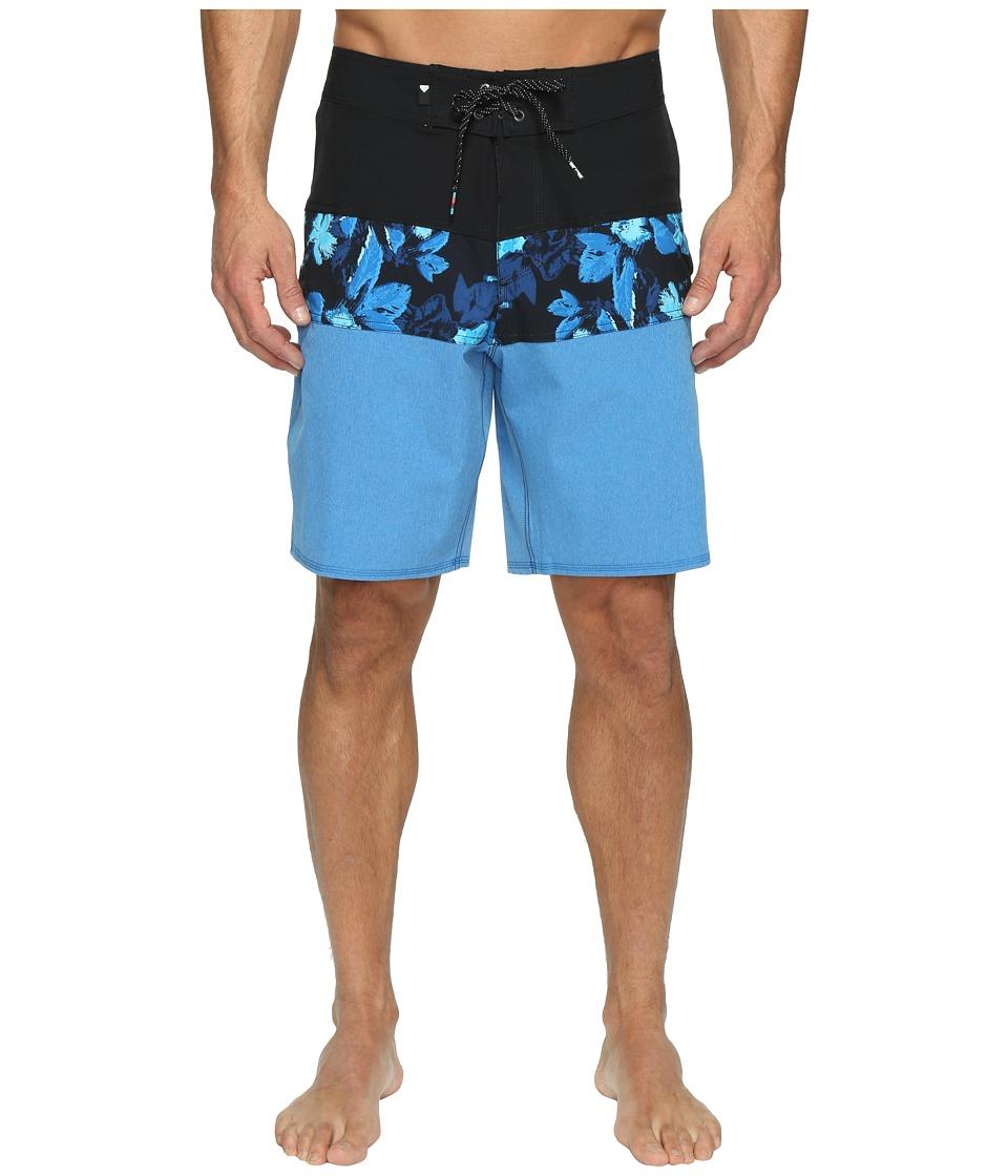 Quiksilver - Panel Blocked Vee 19 Boardshorts (Imperial Blue) Men's Swimwear