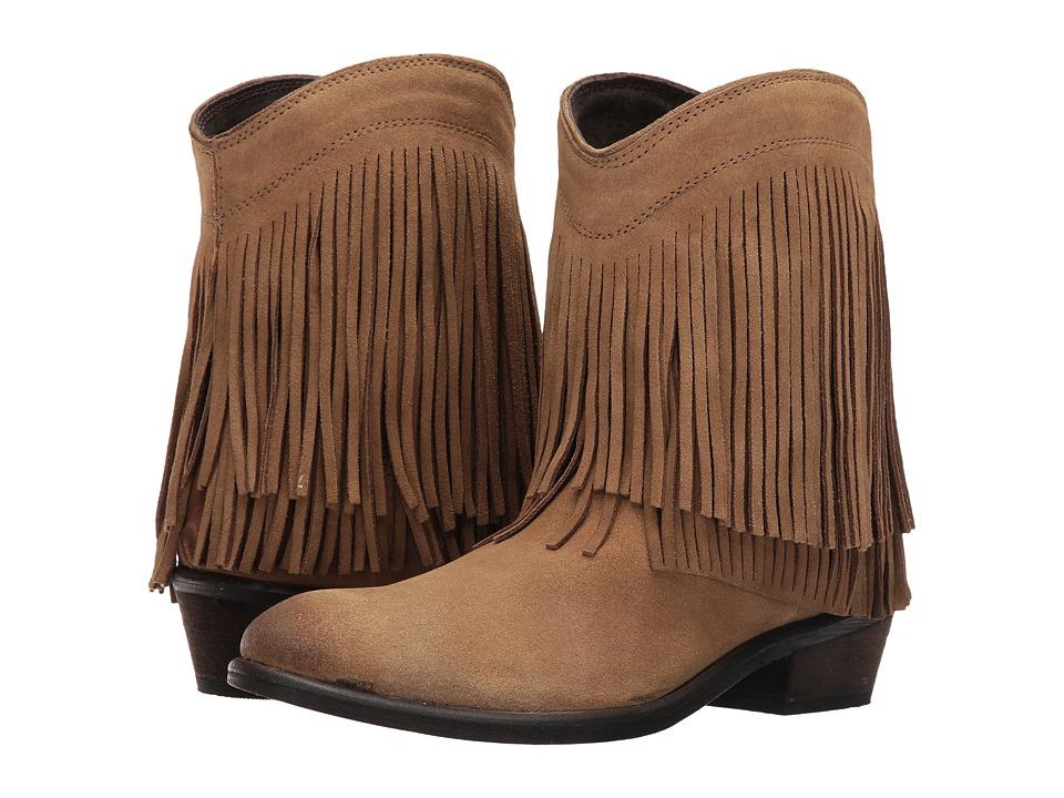 Roper - Fringe Shorty (Tan Suede) Cowboy Boots