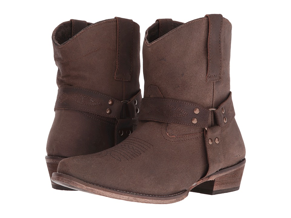 Roper - Harness (Brown Split Crazy) Cowboy Boots