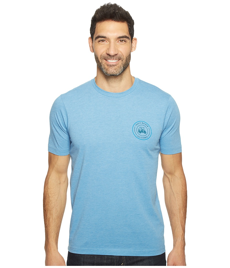 TravisMathew - Merk T-Shirt (Heather Blue) Men's T Shirt
