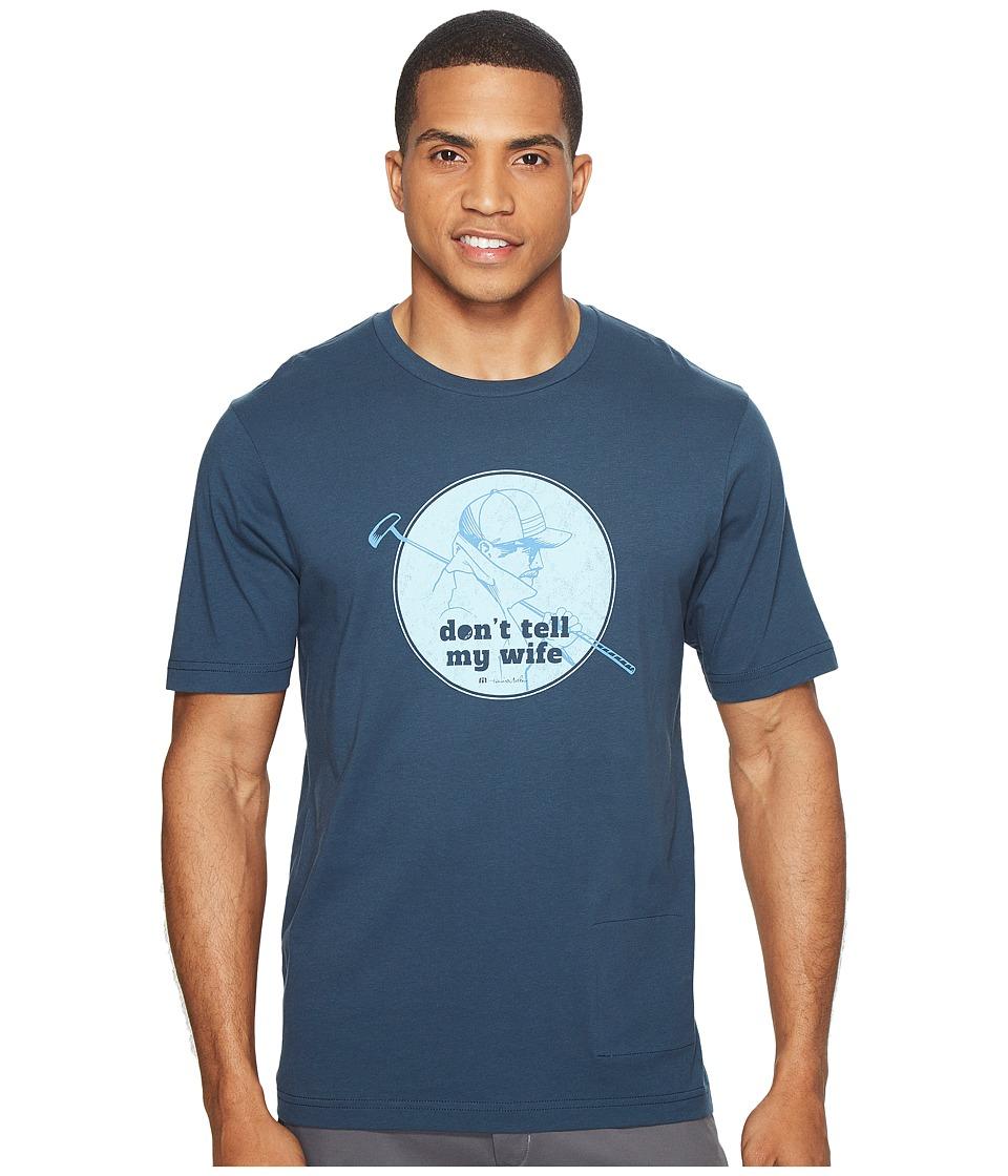 TravisMathew Buttery B T-Shirt (Dark Blue) Men