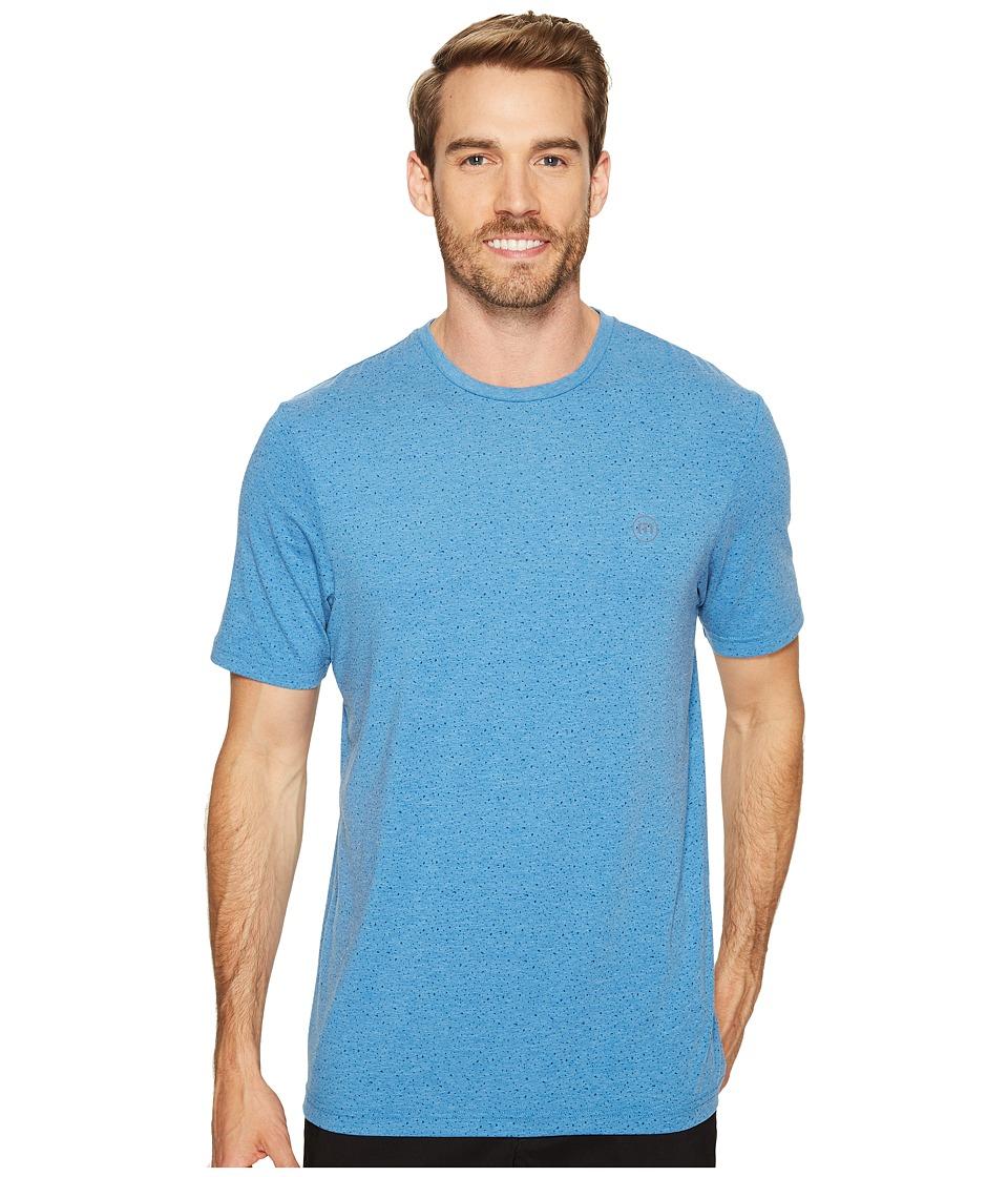 TravisMathew - Briggs Crew (Heather Brilliant Blue) Men's Clothing