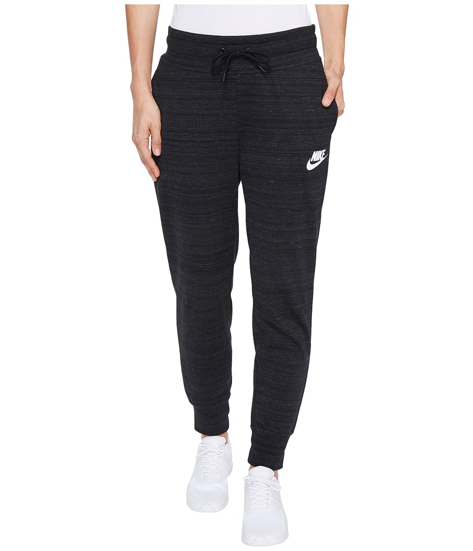 Nike - Sportswear Advance 15 Knit Pant (Black/White) Women's Casual Pants