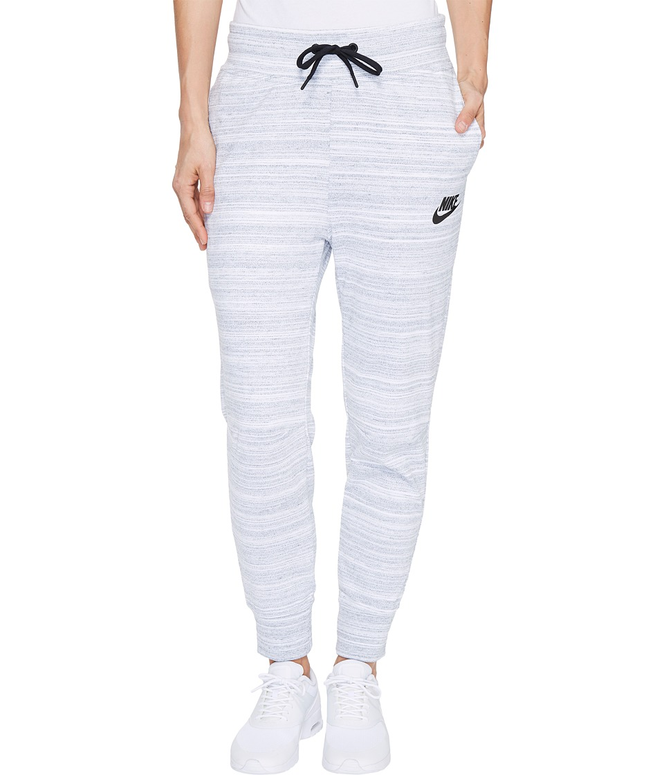 Nike - Sportswear Advance 15 Knit Pant (White/Black) Women's Casual Pants