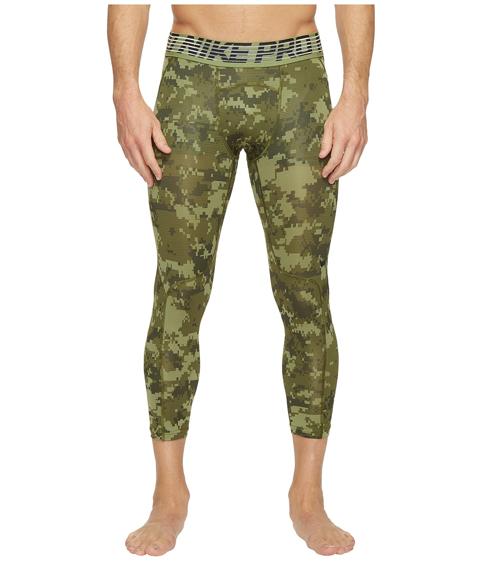 Nike - Pro Hypercool Printed Tight (Palm Green/Legion Green/Black) Men's Casual Pants