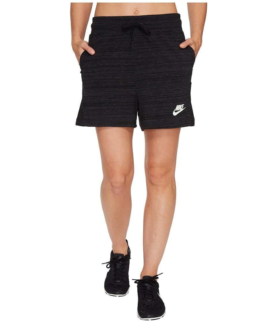 Nike - Sportswear Advance 15 Short (Black/White) Women's Shorts