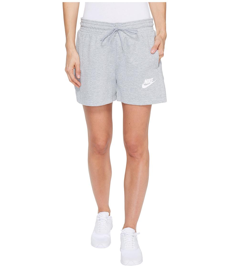 Nike - Sportswear Advance 15 Short (Dark Grey Heather/Black/White) Women's Shorts