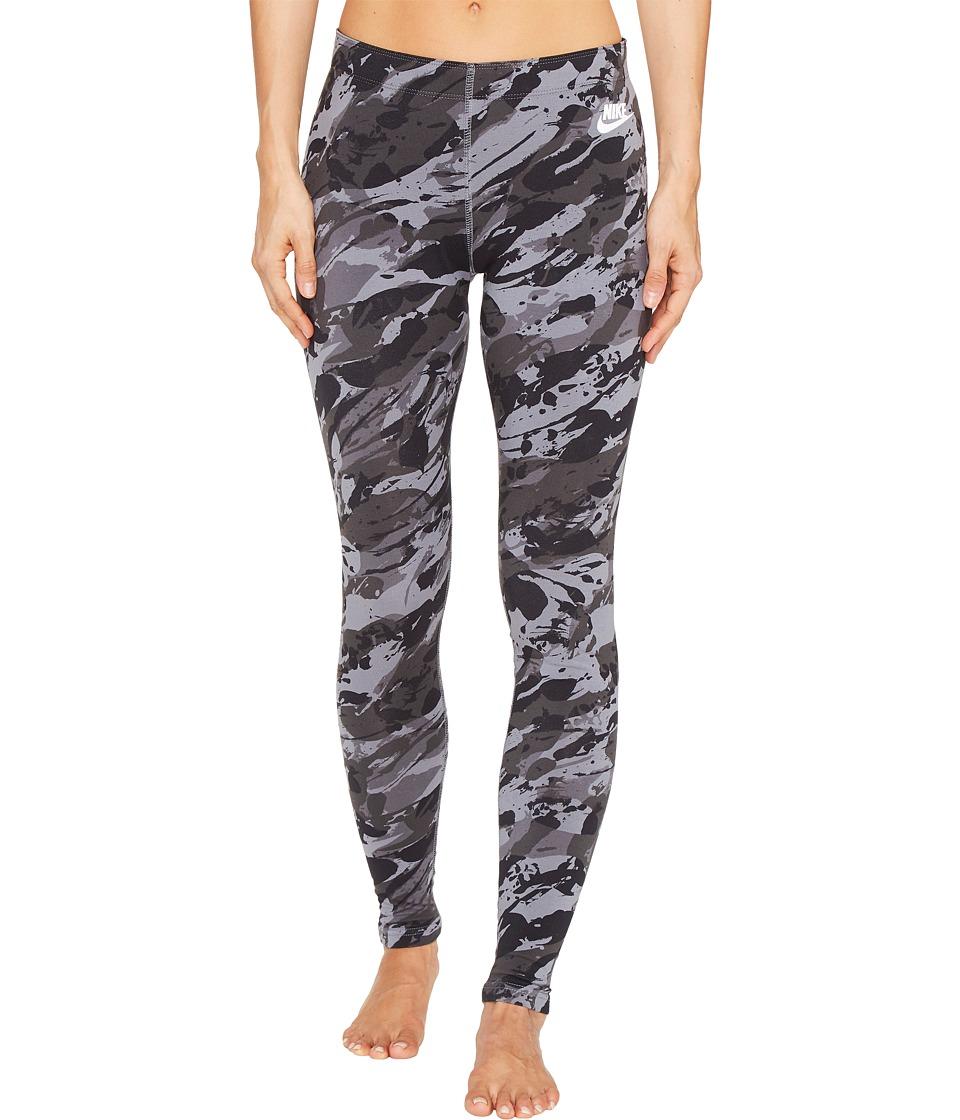 Nike - Sportswear Rock Garden Legging (Black/Black/White) Women's Casual Pants