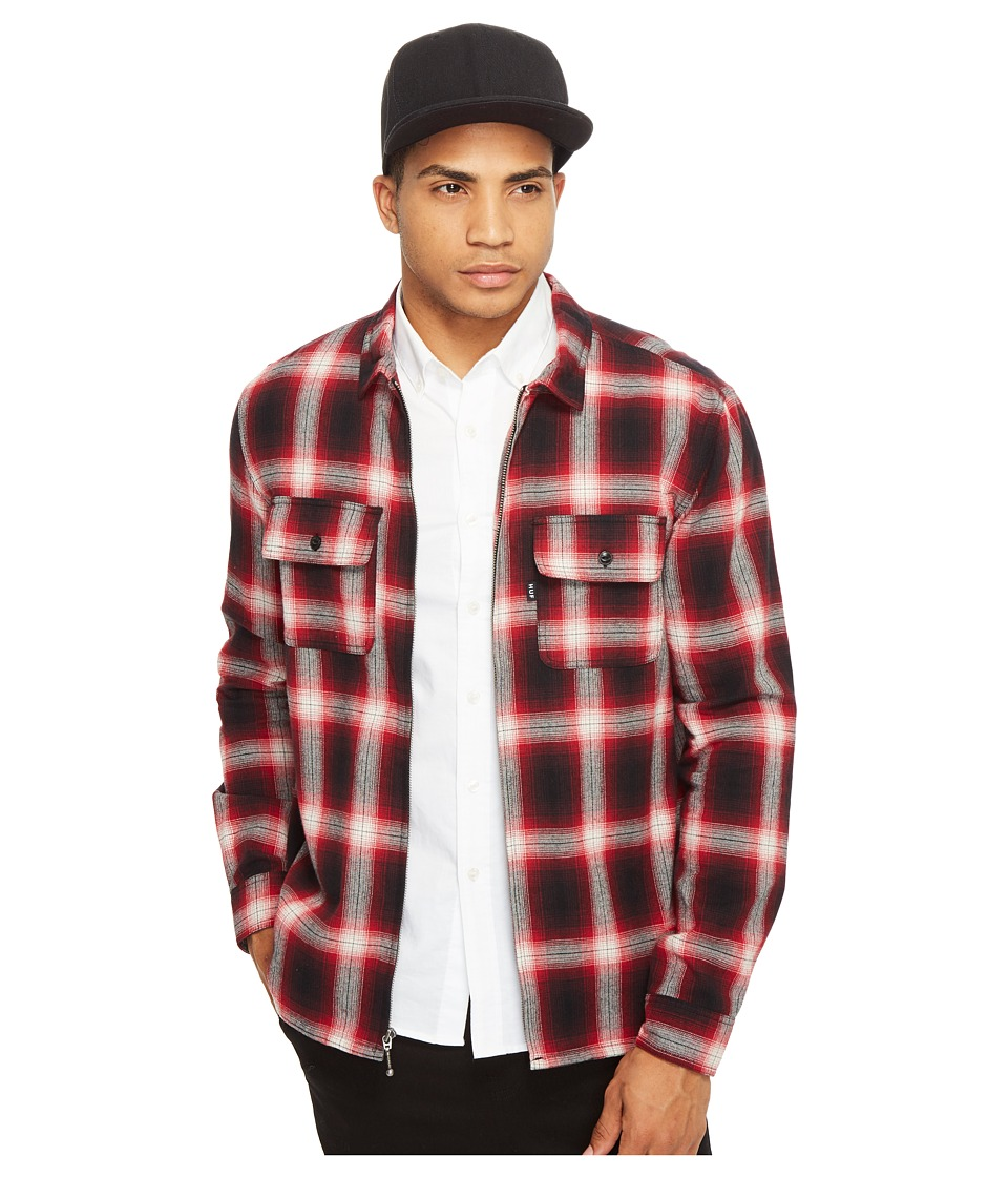 HUF - Folsom Plaid Jacket (Red) Men's Coat