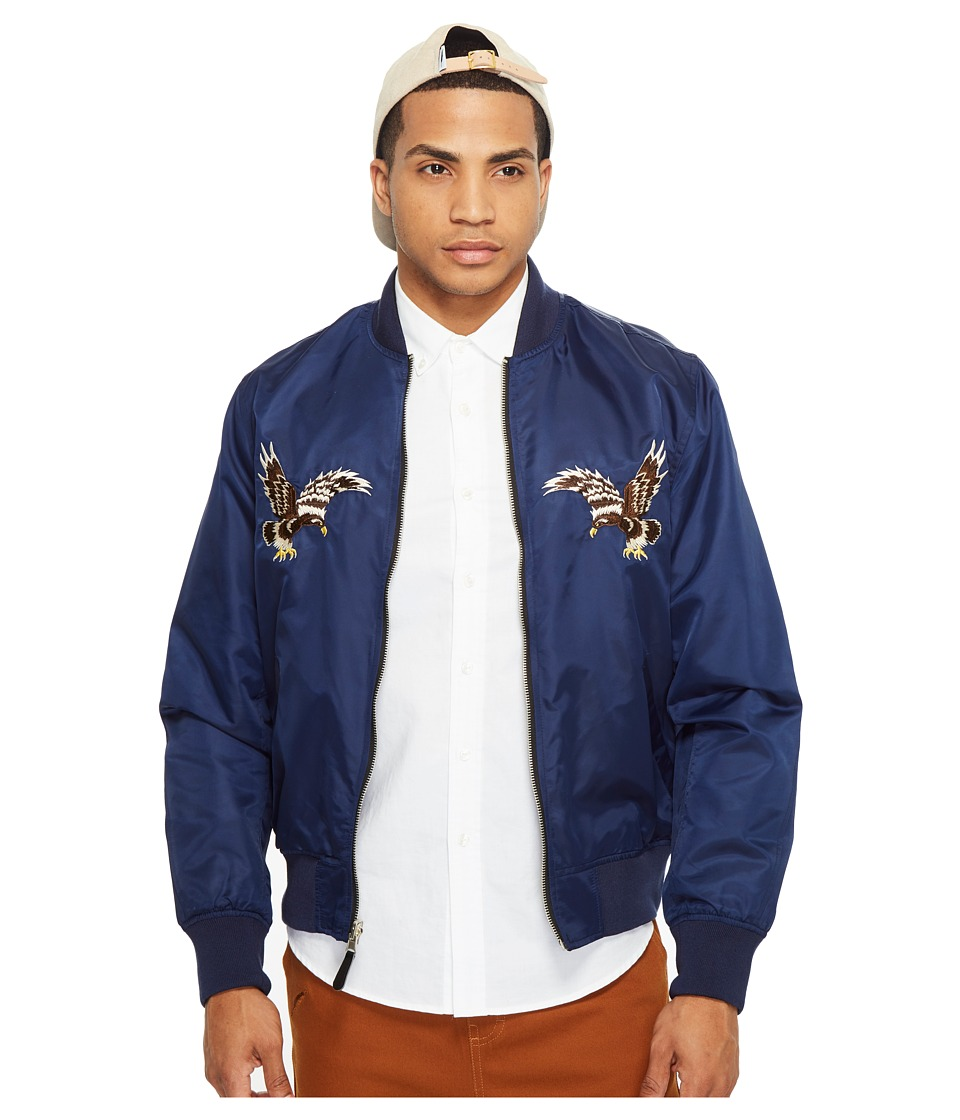 HUF - Souvenir MA-1 Jacket (Navy) Men's Coat