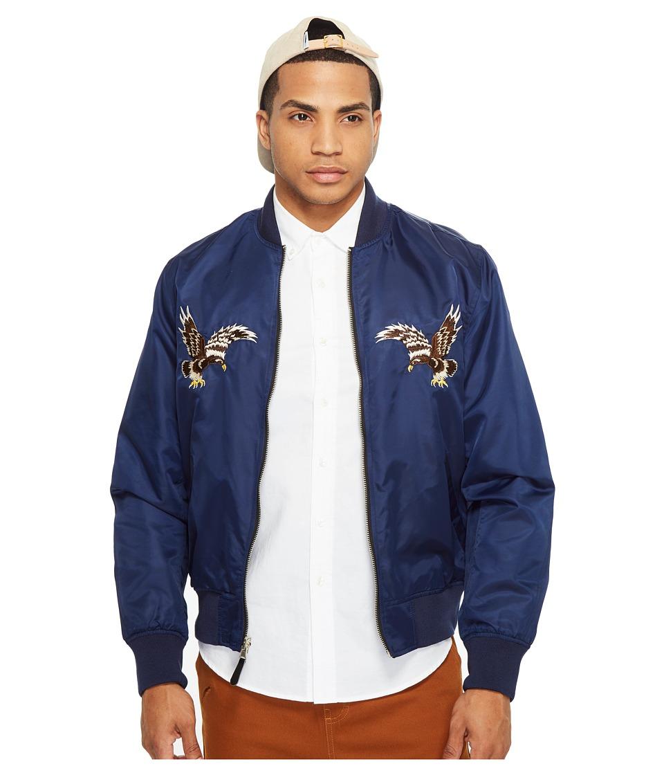 HUF - Souvenir MA-1 Jacket (Navy) Men's Coat