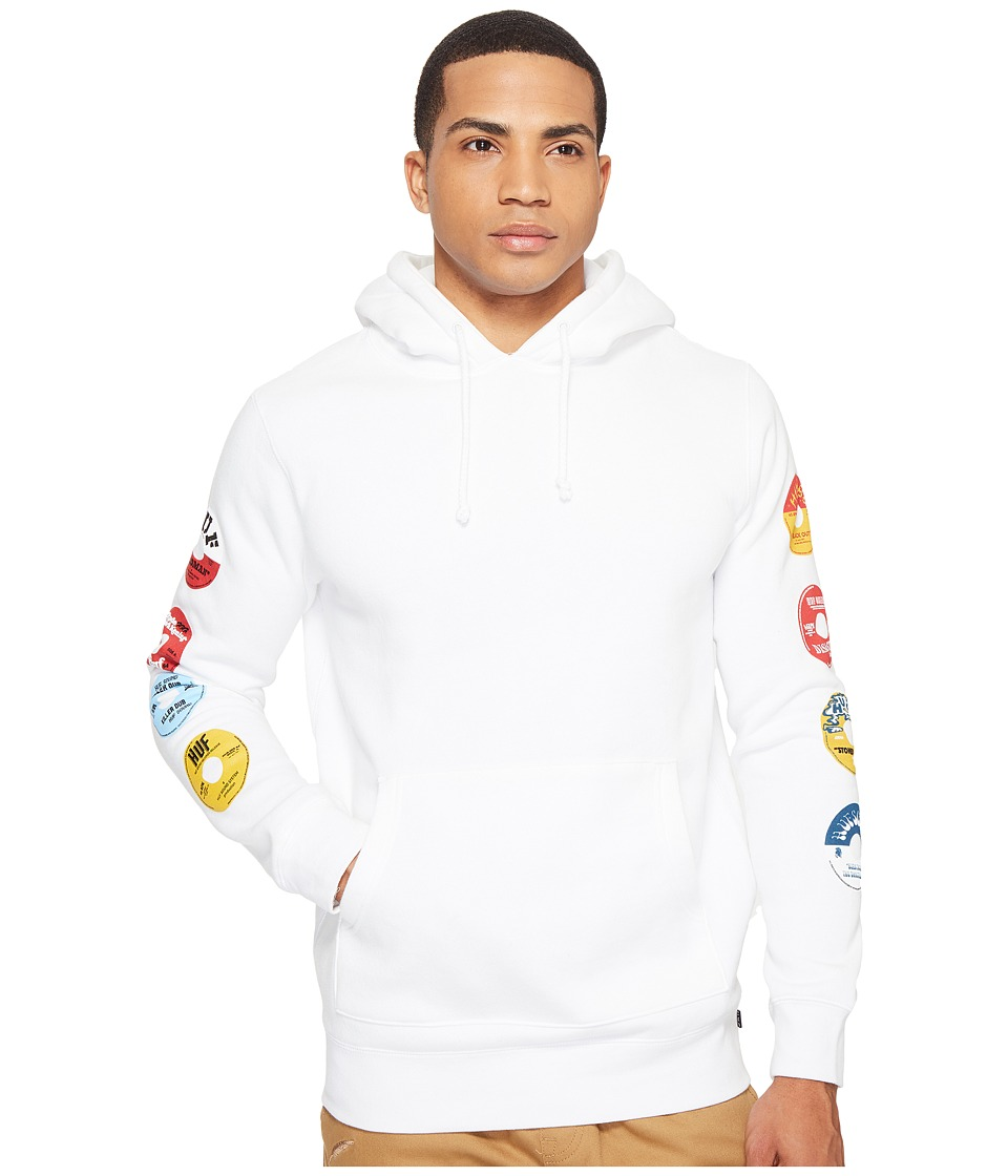 HUF - 45 RPM Pullover Hoodie (White) Men's Sweatshirt