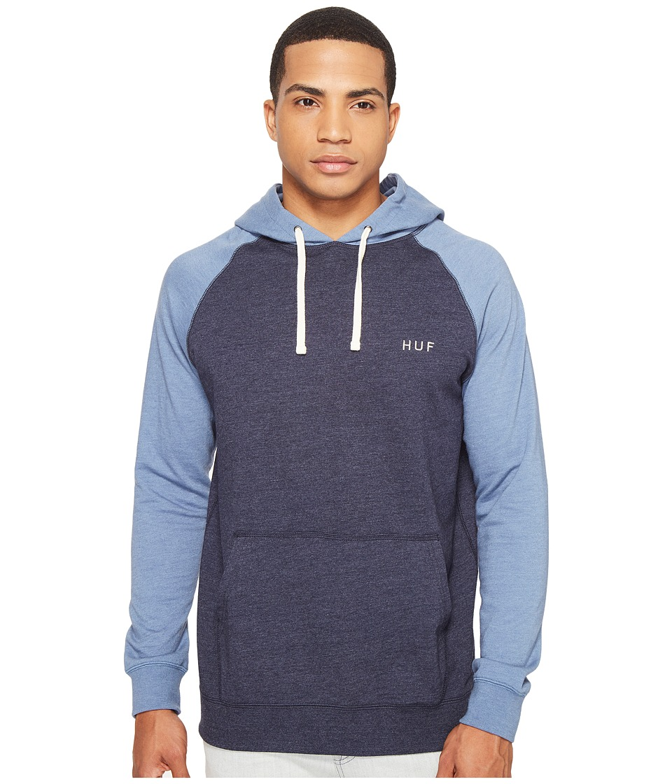 HUF - Dalton Pullover Hooded Knit (Light Blue/Navy) Men's Sweatshirt
