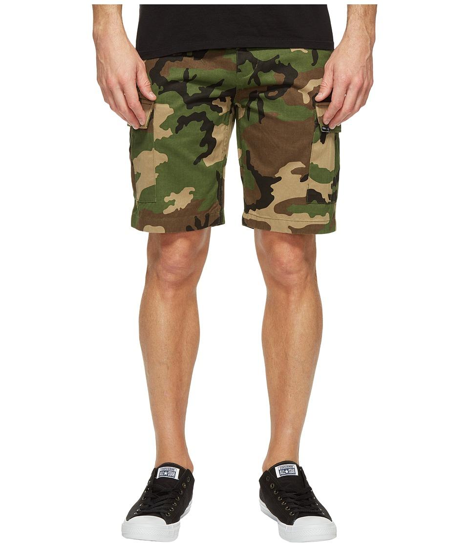 HUF - Fatigue Cargo Shorts (Woodland) Men's Shorts