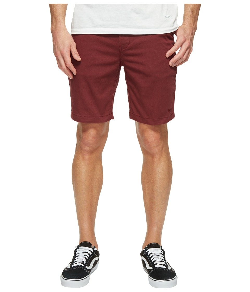 HUF - Fulton Classic Shorts (Burgundy) Men's Shorts
