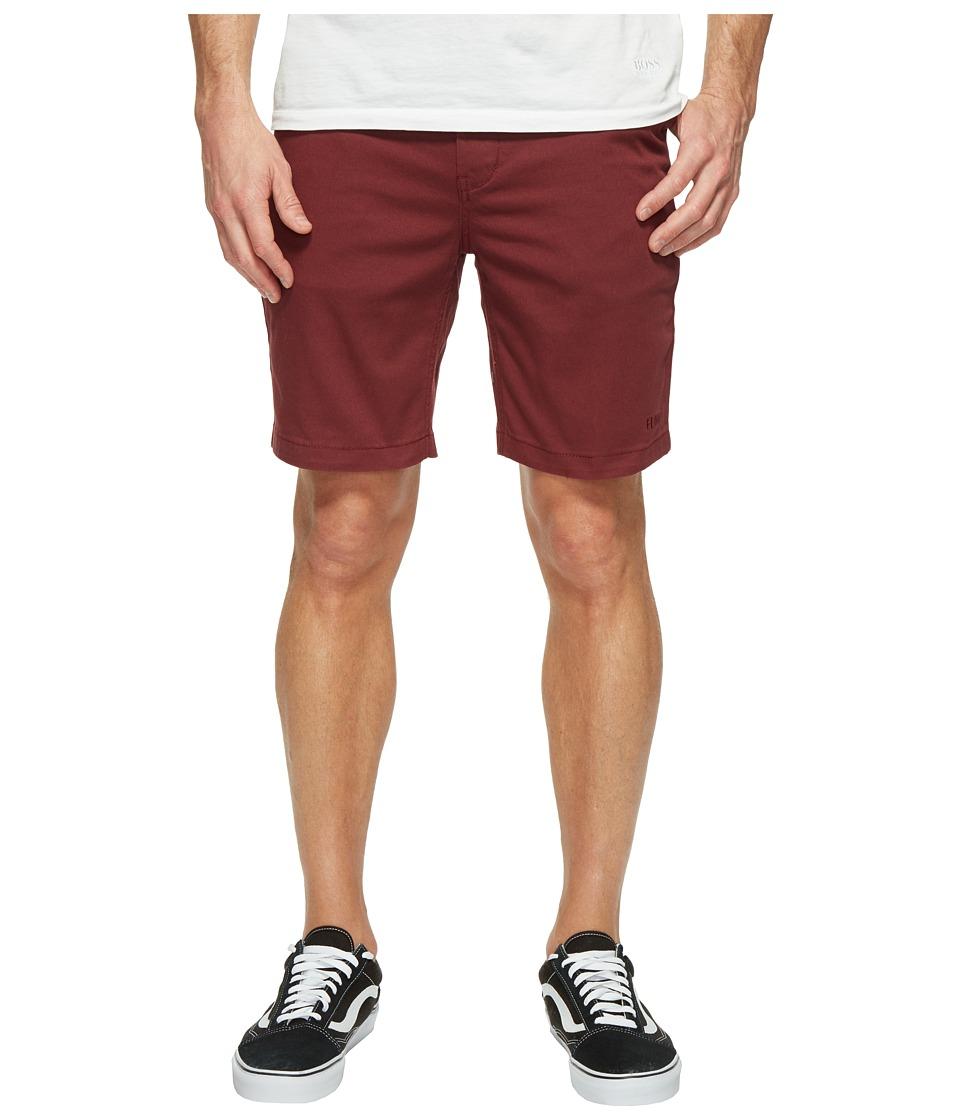 HUF - Fulton Classic Shorts (Burgundy) Men's Shorts