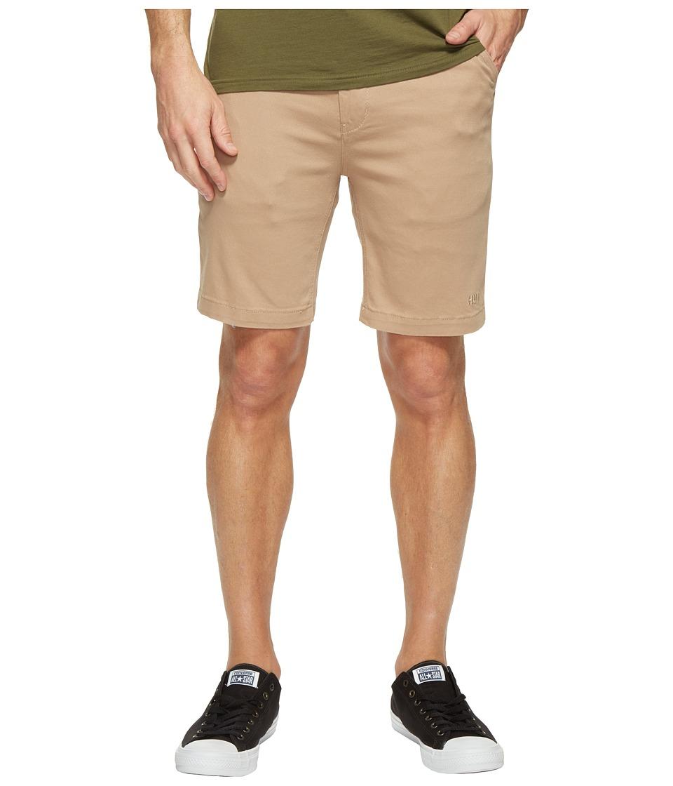 HUF - Fulton Classic Shorts (Khaki) Men's Shorts