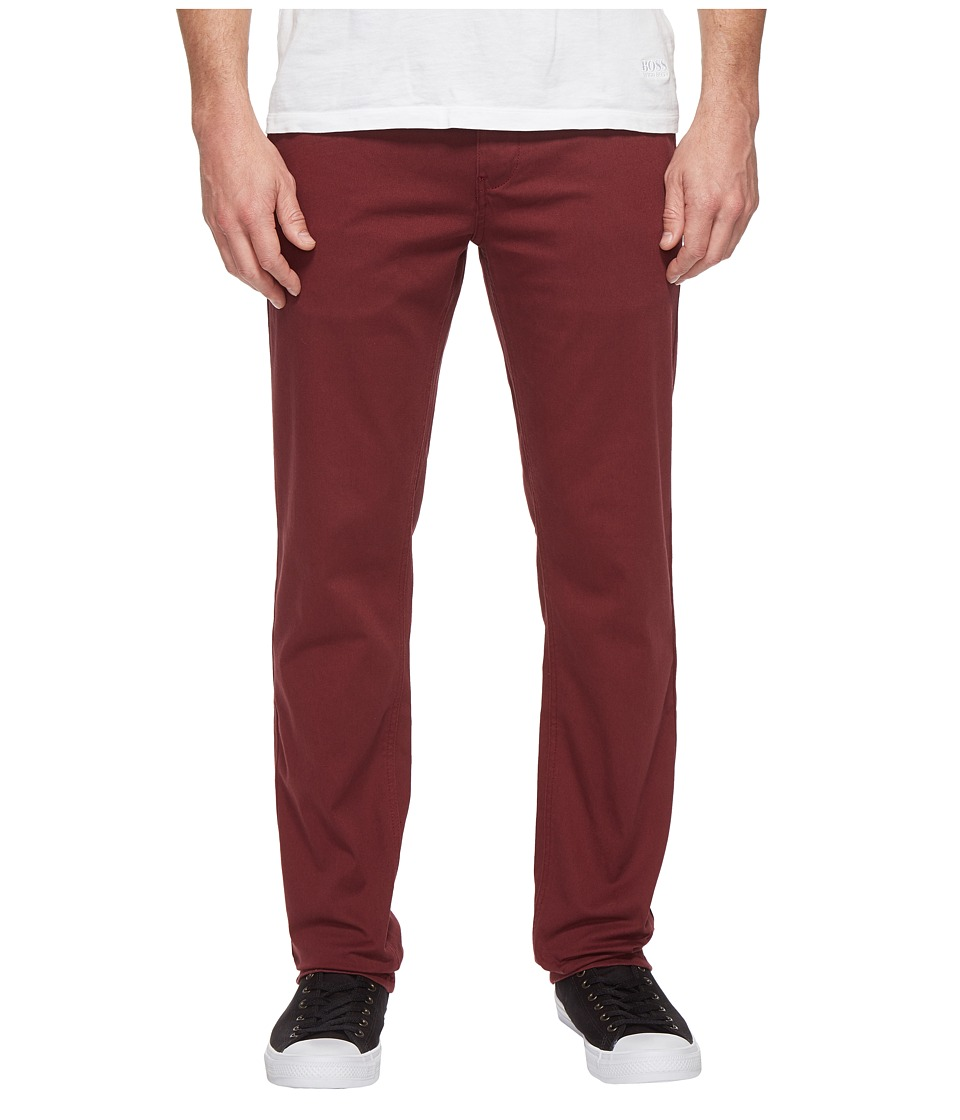 HUF - Fulton Chino Pants (Burgundy) Men's Casual Pants