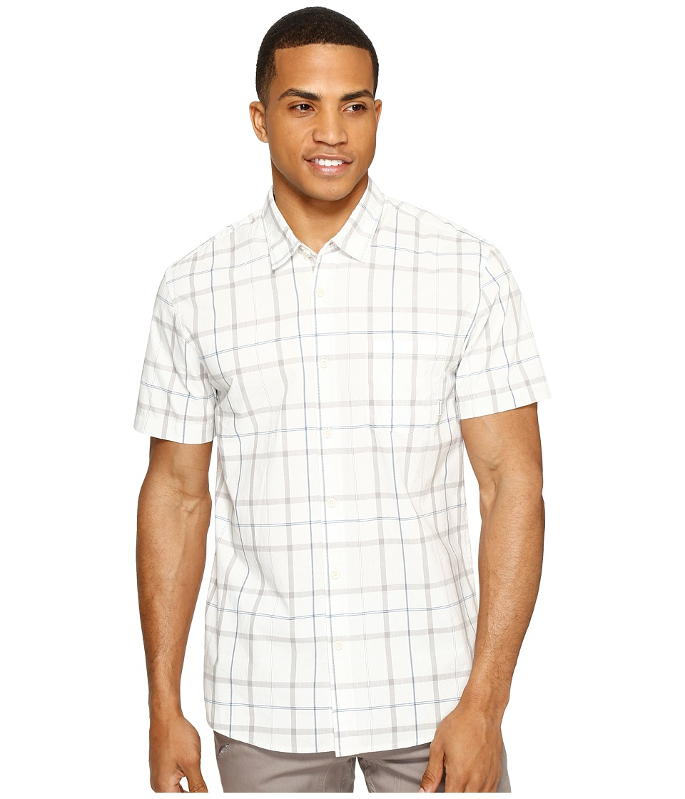 Quiksilver - Everyday Check Short Sleeve Shirt (Snow White Check) Men's Short Sleeve Pullover