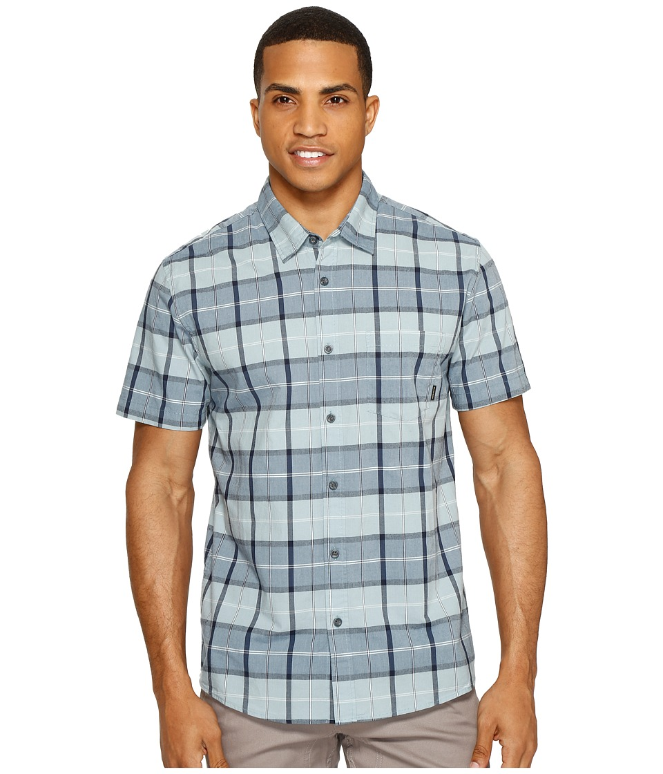 Quiksilver - Everyday Check Short Sleeve Shirt (Stone Blue Check) Men's Short Sleeve Pullover