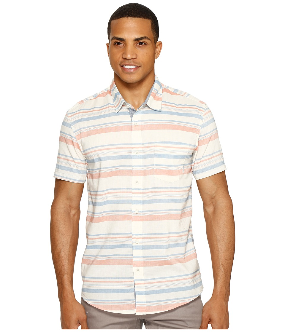 Quiksilver - Aventail Short Sleeve Woven (Burnt Sienna Aventail) Men's Short Sleeve Pullover