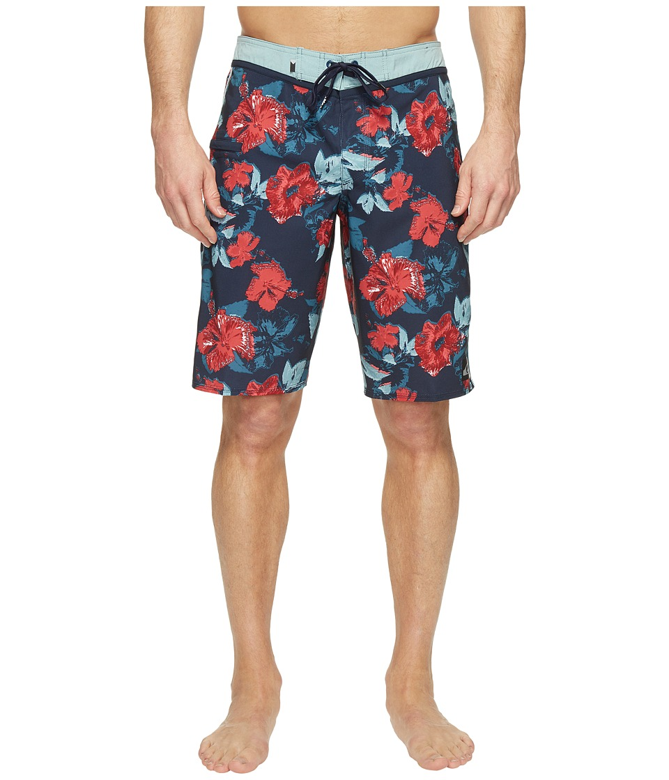 Quiksilver - Jungle Fever Vee 21 Boardshorts (Navy Blazer) Men's Swimwear