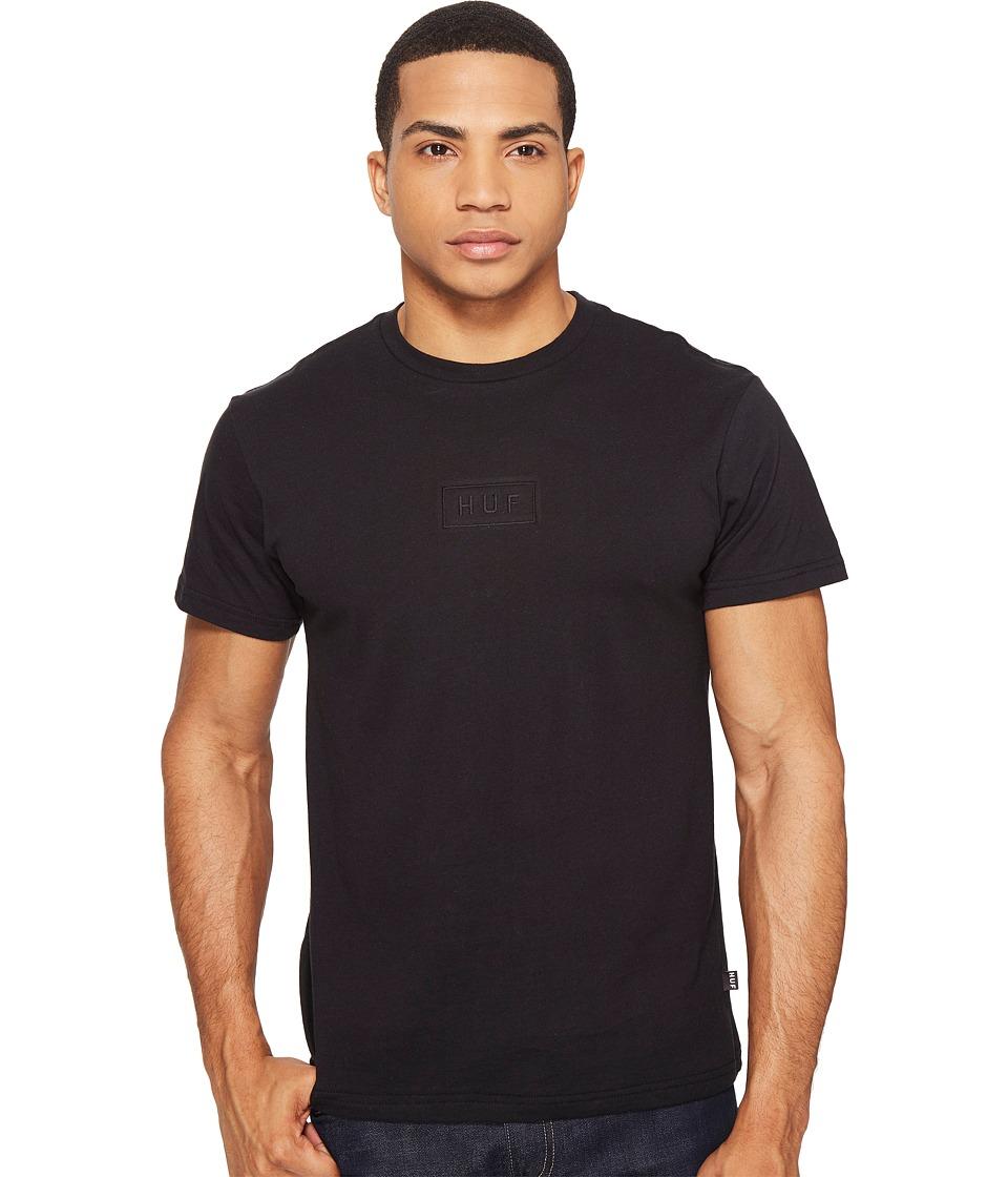HUF - Overdye Bar Logo Tee (Black) Men's T Shirt