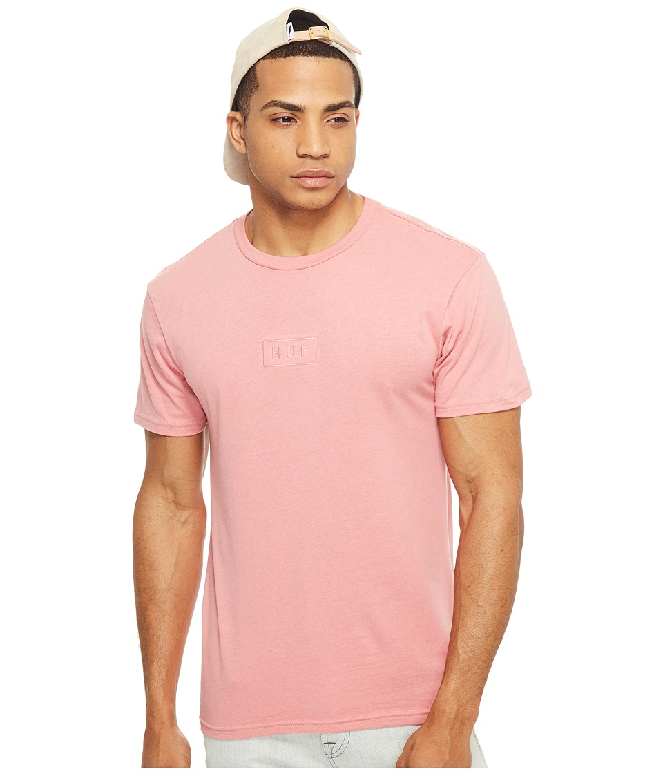 HUF - Overdye Bar Logo Tee (Pink) Men's T Shirt