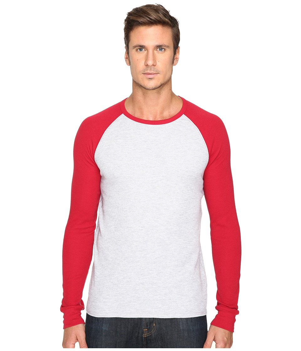 Levi's(r) - Kelly Raglan Long Sleeve Thermal Shirt (Athletic Grey Heather/Jester Red) Men's Clothing