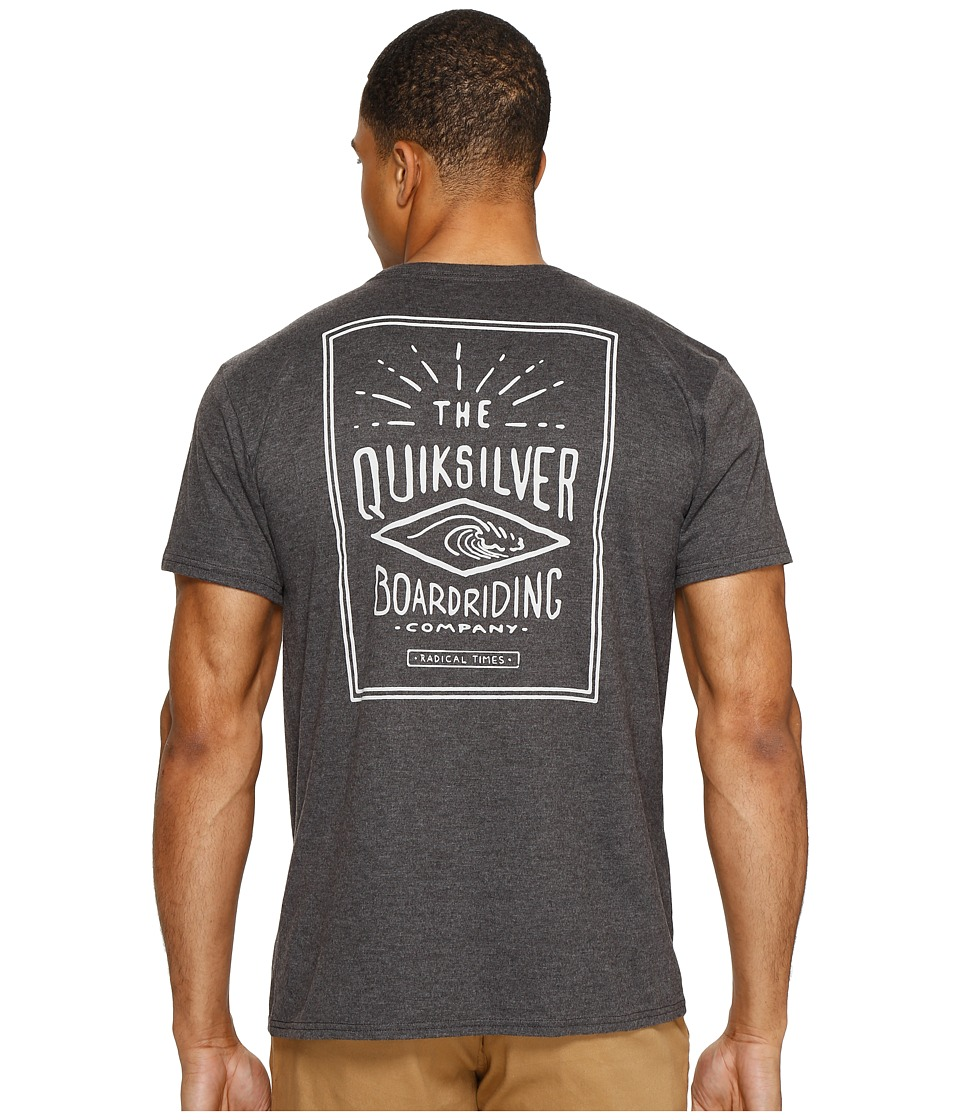 Quiksilver - Double Lines Tee (Charcoal Heather) Men's T Shirt
