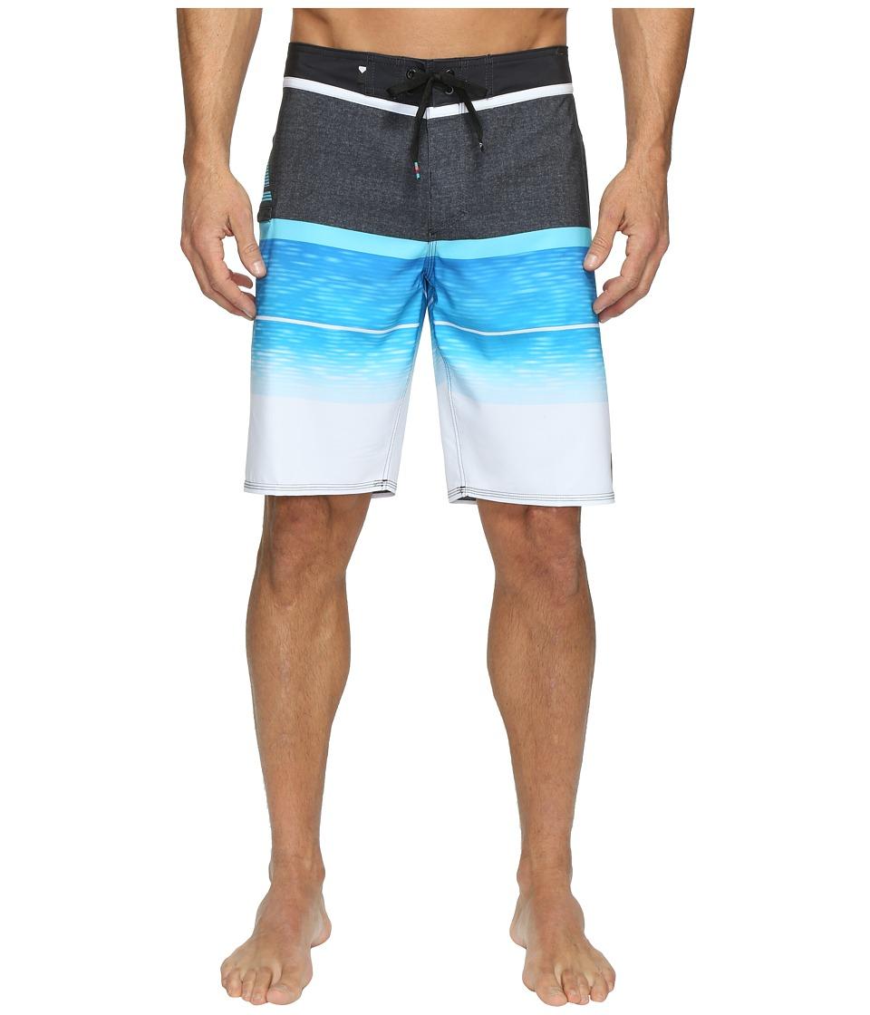 Quiksilver - Slab Logo Vee 20 Boardshorts (Blue Danube) Men's Swimwear