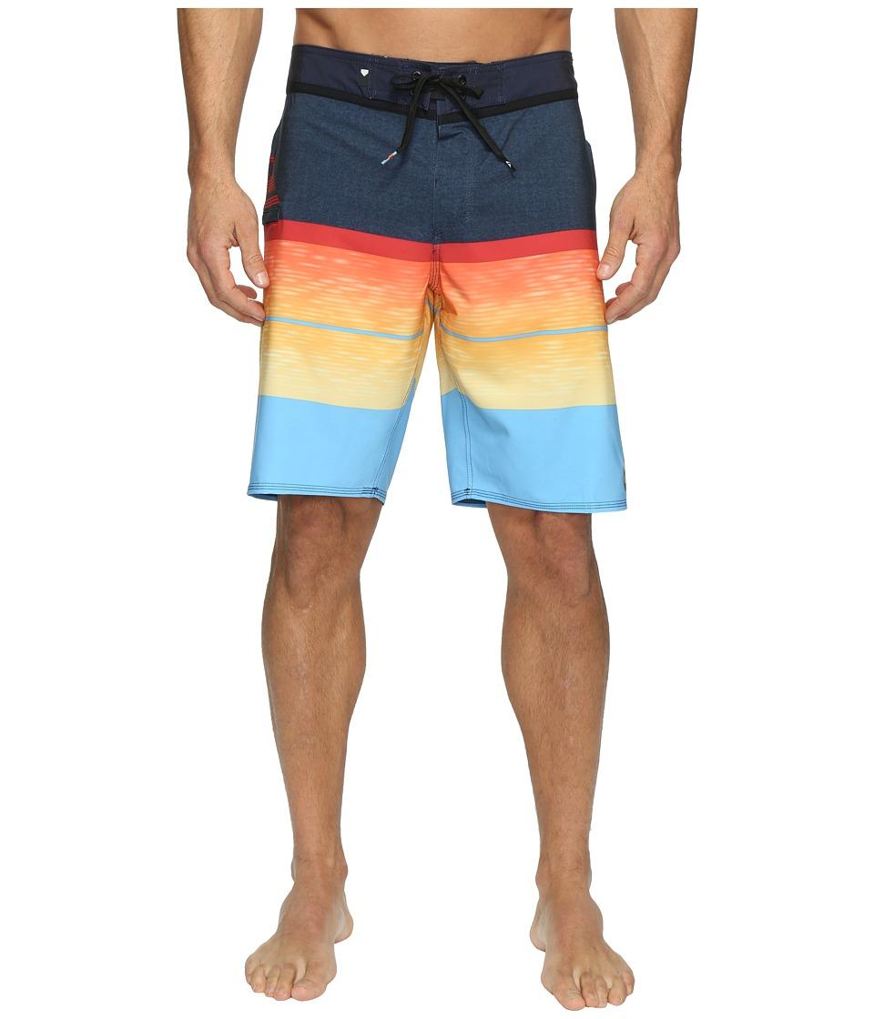 Quiksilver - Slab Logo Vee 20 Boardshorts (Navy Blazer) Men's Swimwear